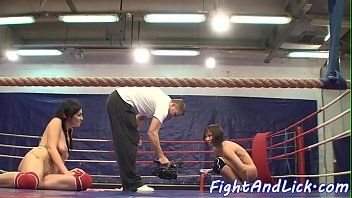 Catfight, Naked, Ring, Boxing, Sexfight, Lesbian catfight