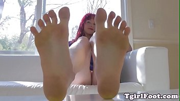 Sole, Toes, Shemale feet, Footworship, Foot solo, Ginger