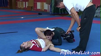 Wrestling, Catfight, Cheerleader, Sexfight, Cheerleaders, Lesbian asslicking