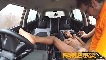 Driving school, Fake driving school, Fake driving, Natural big tits, Big fake tits, Fake school