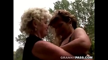 Hairy, Forest, Grandmother, Mature lesbian, Old women, Hairy granny