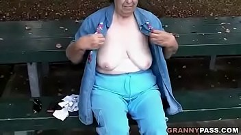 Saggy, Bbw granny, Grandmother, Granny bbw, Saggy tits, Public flash