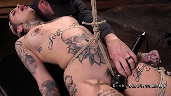 Pain, Tattoo, Rope, Hogtied, Bdsm pain, Bondage fuck