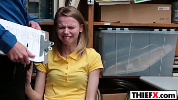 Thief, Penetration, Office blowjob, Red hand, Teen caught, Hands