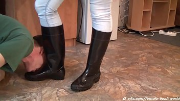 Boots, Boot, Sole, Rubber, Slaves, Femdom slave