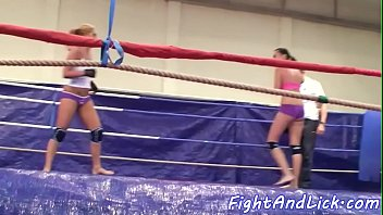 Wrestling, Catfight, Ring, Sexfight, Dominate, Lesbian domination
