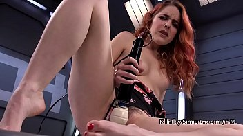 Hairy solo, Insert, Penetration, Fuck machine, Hairy redhead, Vibration