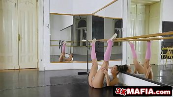 Gym, Ballet, Flexible, Ballerina, Angel small, Two cocks
