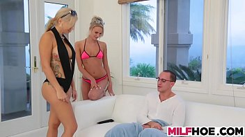 Mum, Stepson, Milf threesome, Big mother, Old threesome, Old mother