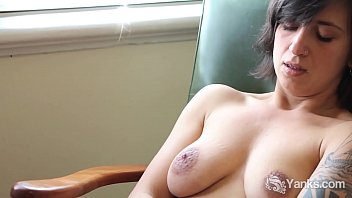 Hairy solo, Smile, Bush, Nipple orgasm, Yank, Hard nipple