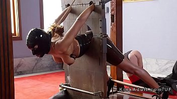 Slave, Painful, Bound, Bdsm squirt, Tied fuck, Two slave