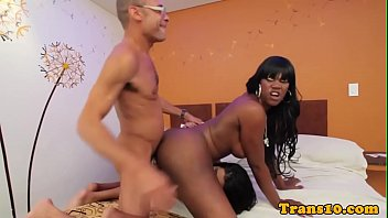 Female, Black anal, Shemale threesome, Ebony threesome, Pounding, Threesome shemale