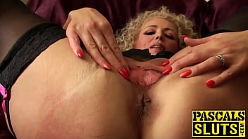Submission, Rebecca, True anal, Anal swallow, Blonde stockings, Submissive anal