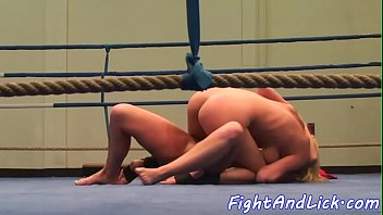 Wrestling, Catfight, Box, Ring, Sexfight, Lesbian wrestling
