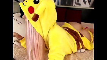 Cosplay, Dildo, Pokemon, 3 some