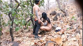 Indian threesome, Forest, Bhabhi, Indian blowjob, Indian bhabi, Indian housewife