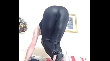 Leather, Stocking feet, Shemale feet, Feet solo, Stockings feet, Cum shoot