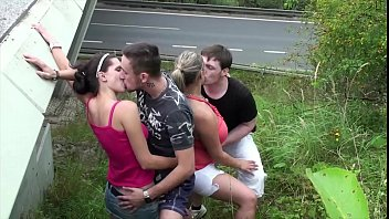 Very young, Fat guy, Pretty girl, Bridge, Teen orgy, Car blowjob