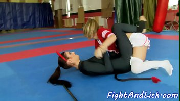 Catfight, Spandex, Sexfight, Fighting, Lesbian fight, Wrestle