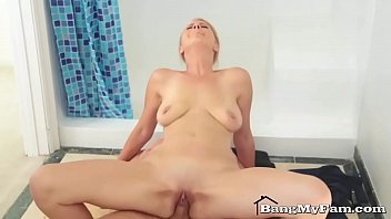 Mommy, Big mom, Step son, Son mom, Son fuck mom, Mom shower
