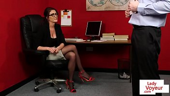 Office, Stockings, Glasses, Tattoo, English, Office stocking