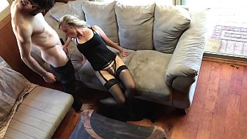Stocking, Blond, Black creampie, Heels fuck, Black stocking, Trip