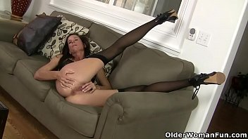 Mom, Stock, Long leg, Stocking mom, American mom, American milf