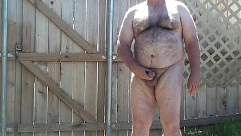 Masturbation, Male masturbation, Backyard