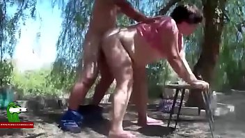 Under, Field, Tree, Trees, Girl ass, Cum on tongue