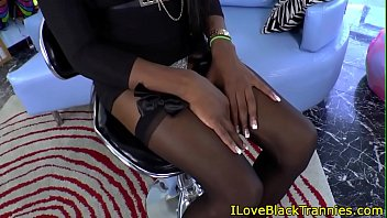 Ebony solo, Black stocking, Bbc stocking, Black tranny, Stocking solo, Shemale bbc