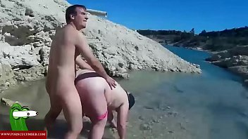 Water, River, Chubby ass, Chubby couple, In water, Horny couple