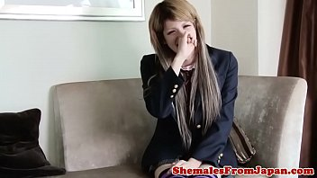 Japanese shemale, Japanese stocking, Japanese schoolgirl, Japanese handjob, Trans, Shemale cum