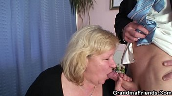 Old, Grandma, Old mom, Big boobs mom, Granny threesome, Double penetration
